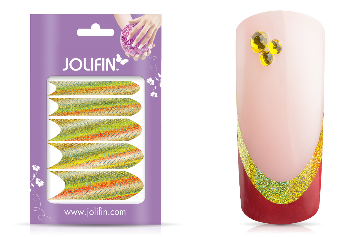 Jolifin Hologramm French Sticker gold