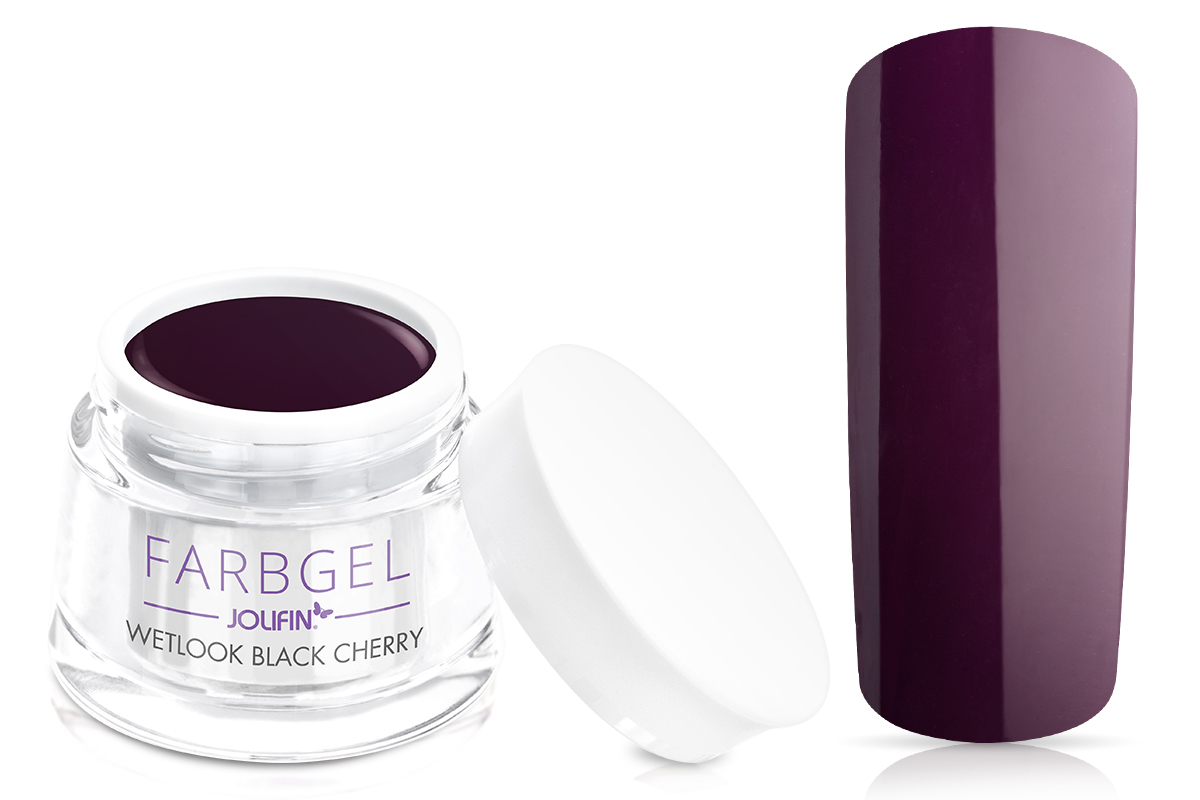 Jolifin Wetlook Farbgel black cherry 5ml