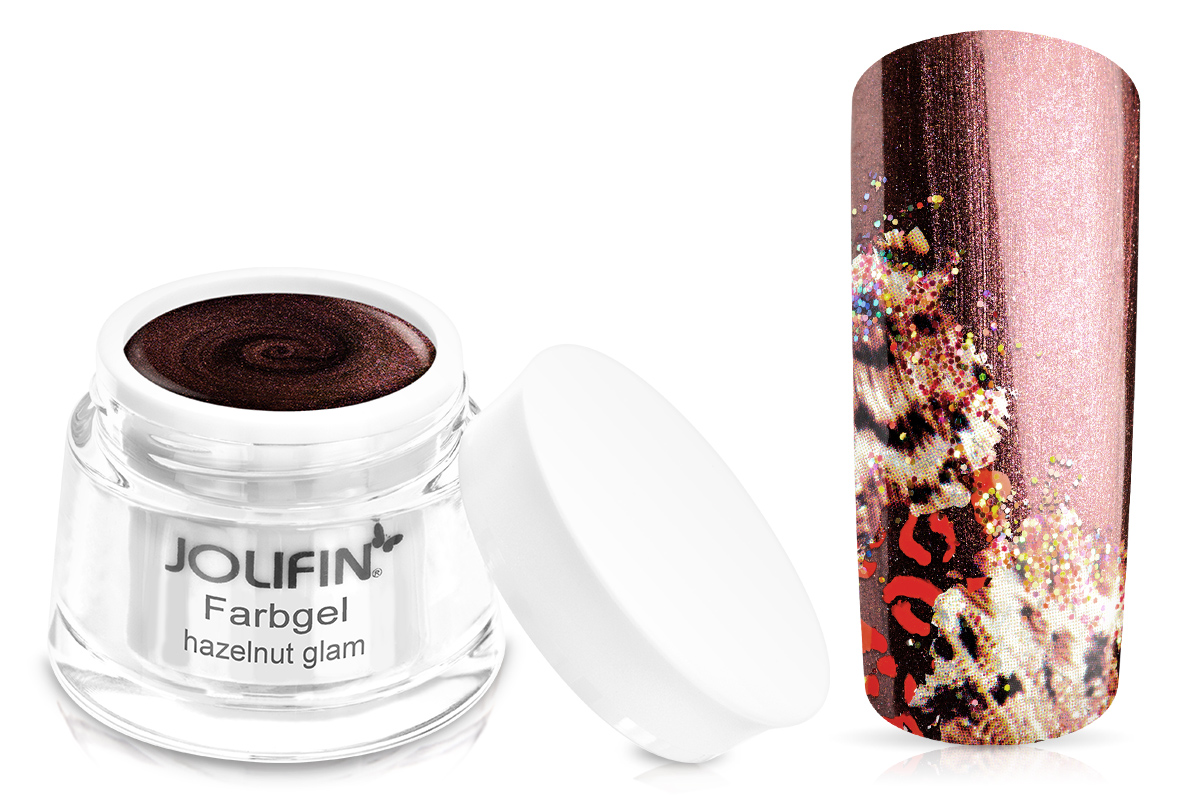 Jolifin Farbgel hazelnut glam 5ml