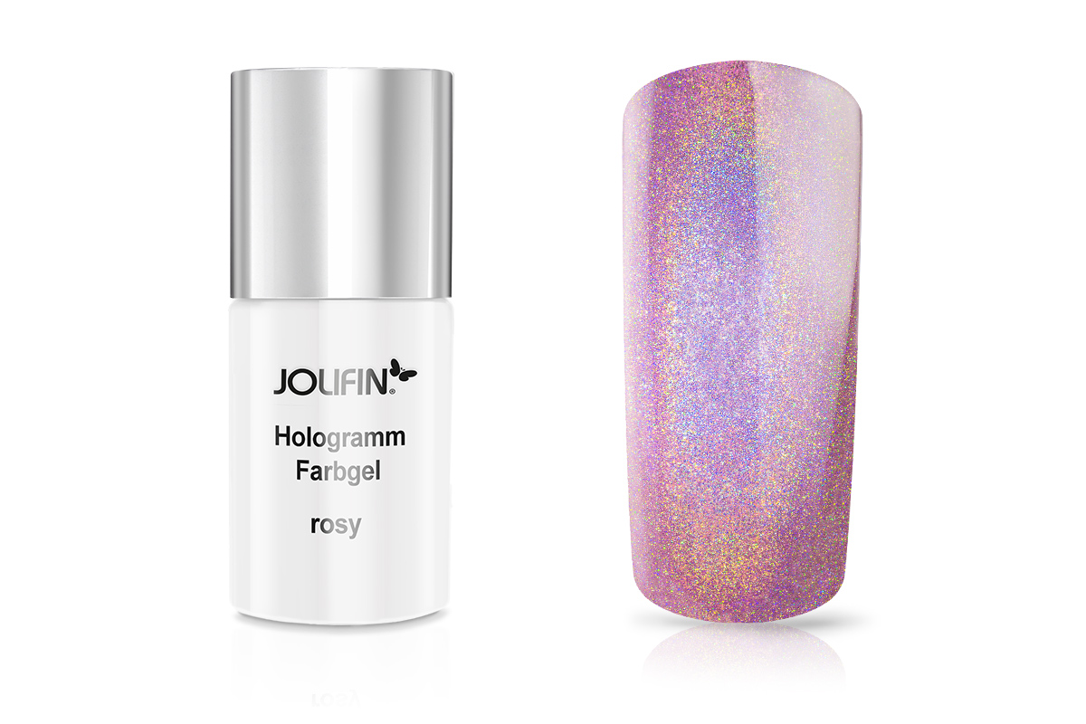 Jolifin Carbon Hologramm Quick-Farbgel rosy 11ml