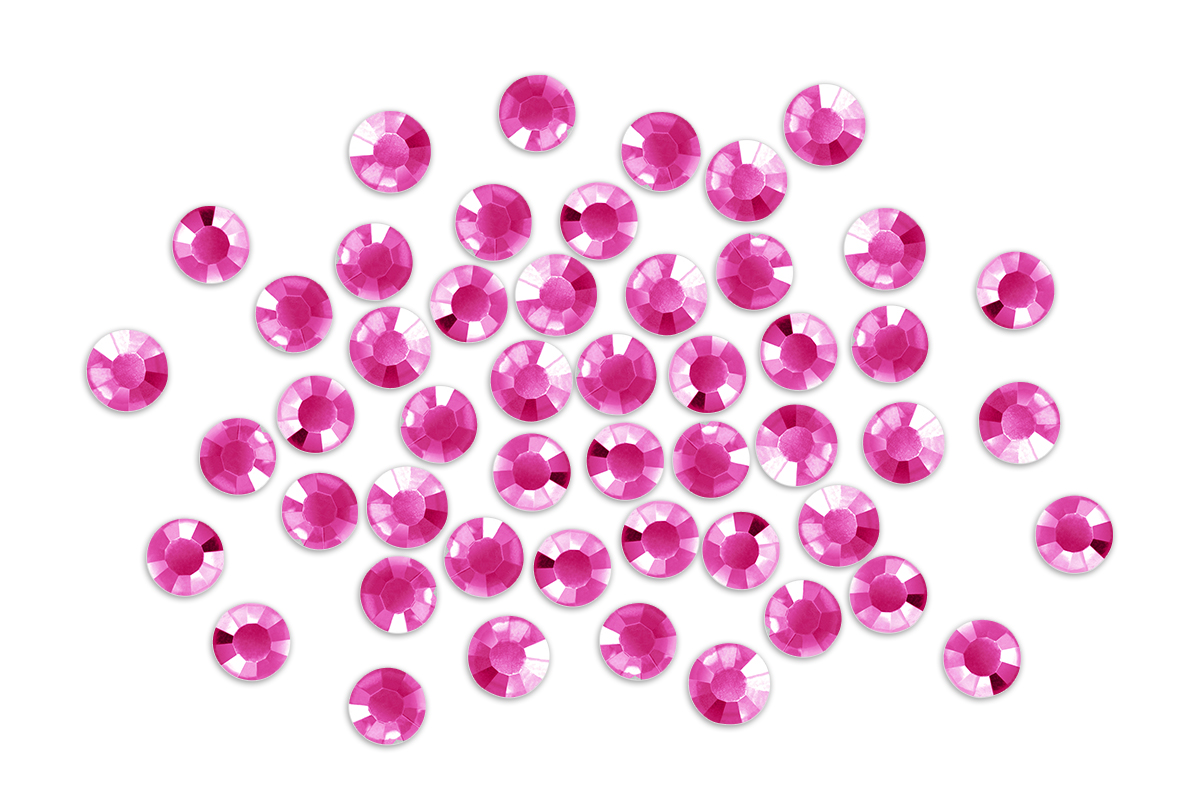 Jolifin Strasssteine - rund pink