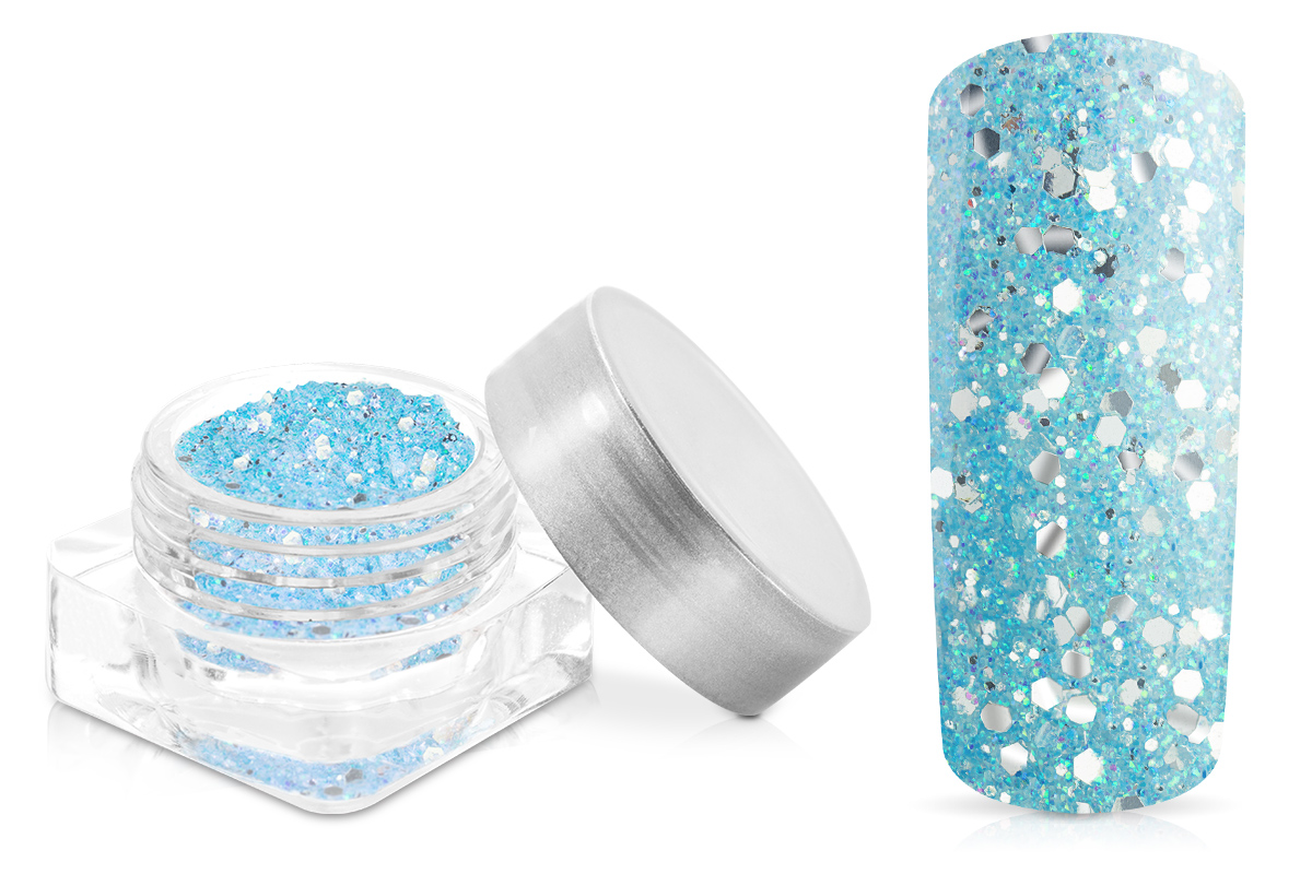 Jolifin Illusion Glitter VI pastell-blue