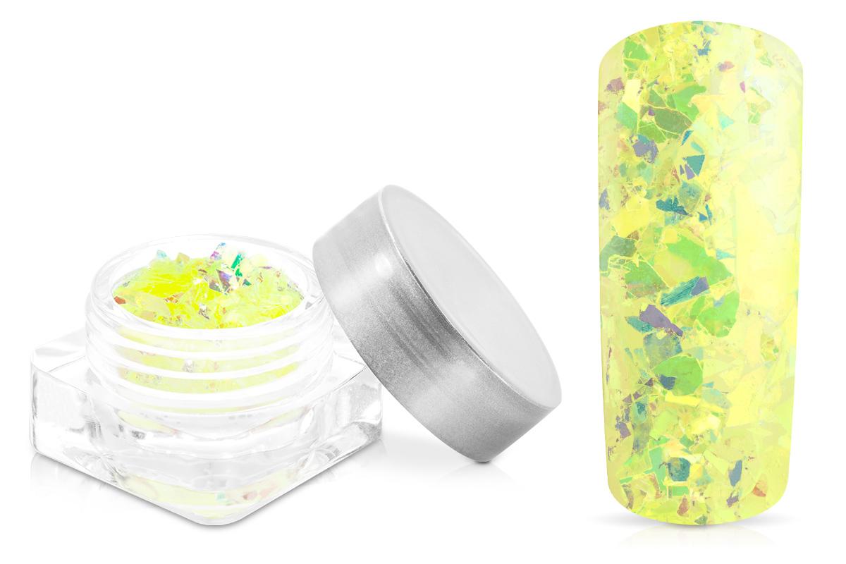 Jolifin Nail-Art Glitter Flakes Neon-Gelb