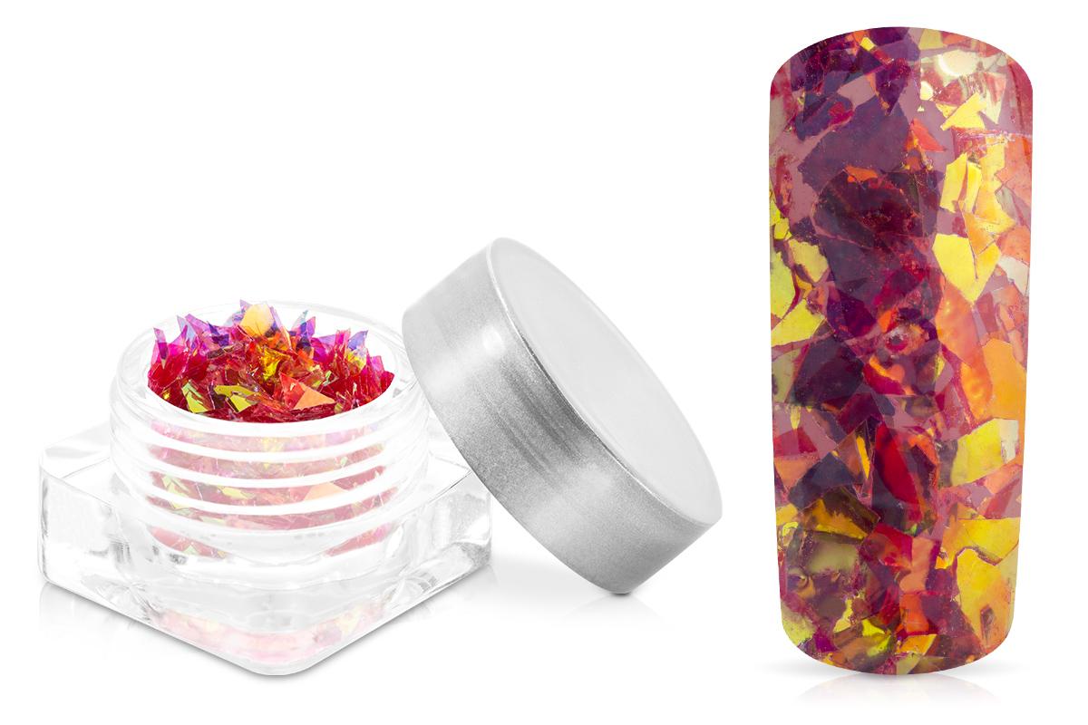 Jolifin Nail-Art Glitter Flakes Dunkelrot
