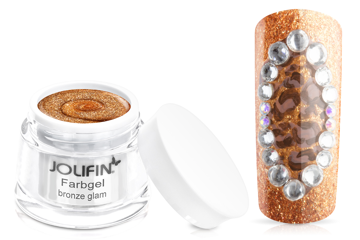 Jolifin Farbgel bronze glam 5ml