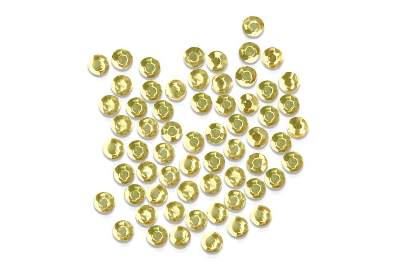 Straßsteine rund hellgold