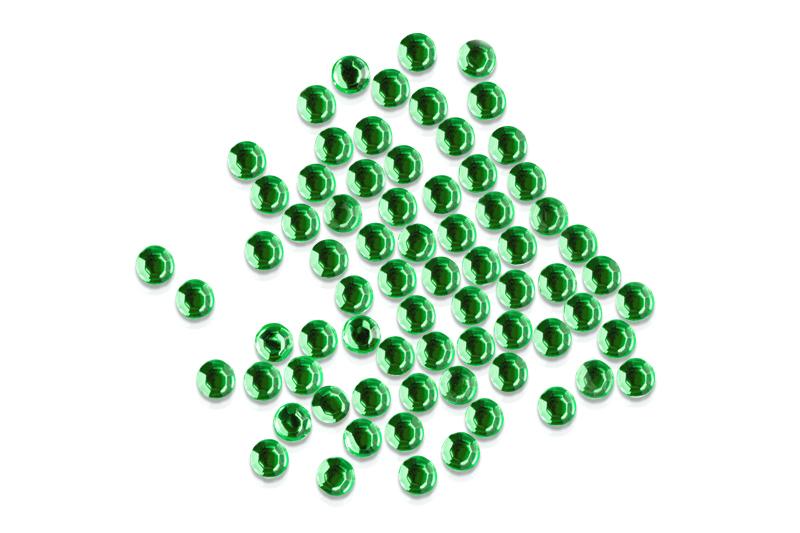 Straßsteine rund green