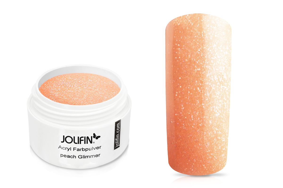 Jolifin Acryl Farbpulver peach Glimmer 5g