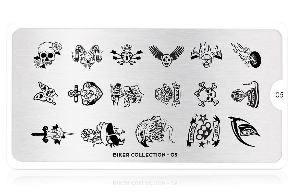 MoYou-London Schablone Biker Collection 05