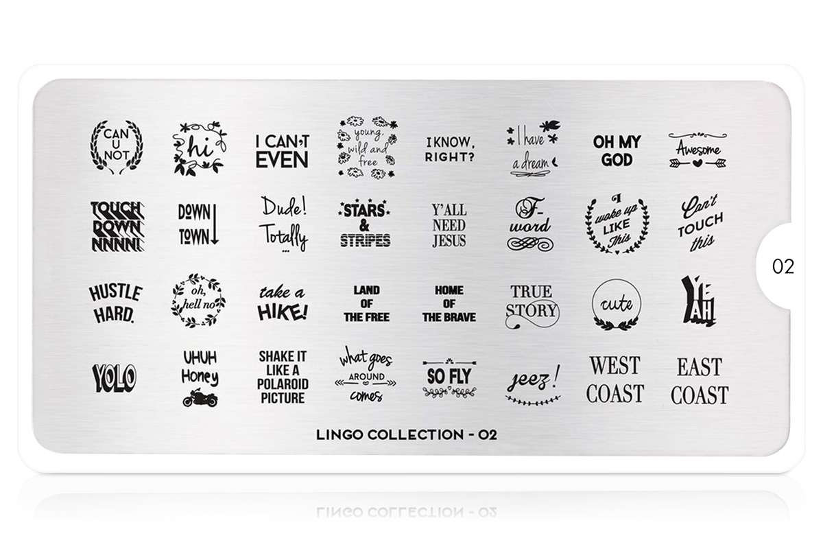 MoYou-London Schablone Lingo Collection 02