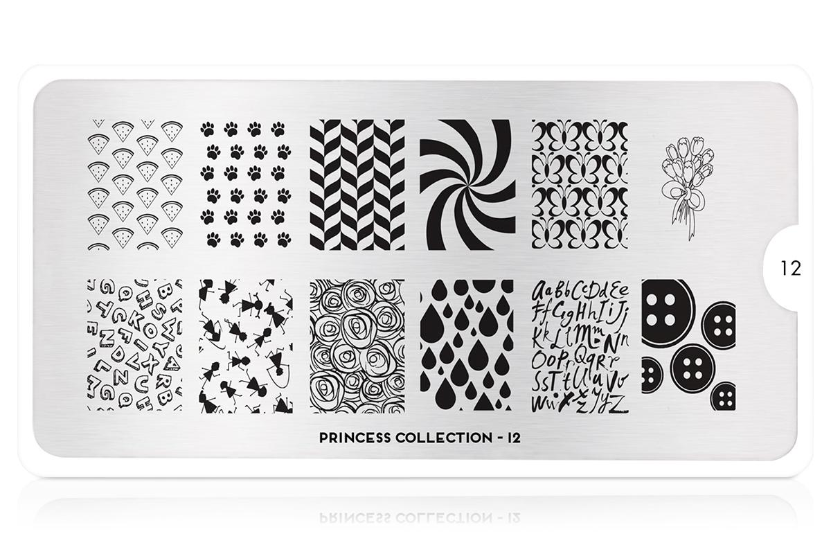 MoYou-London Schablone Princess Collection 12