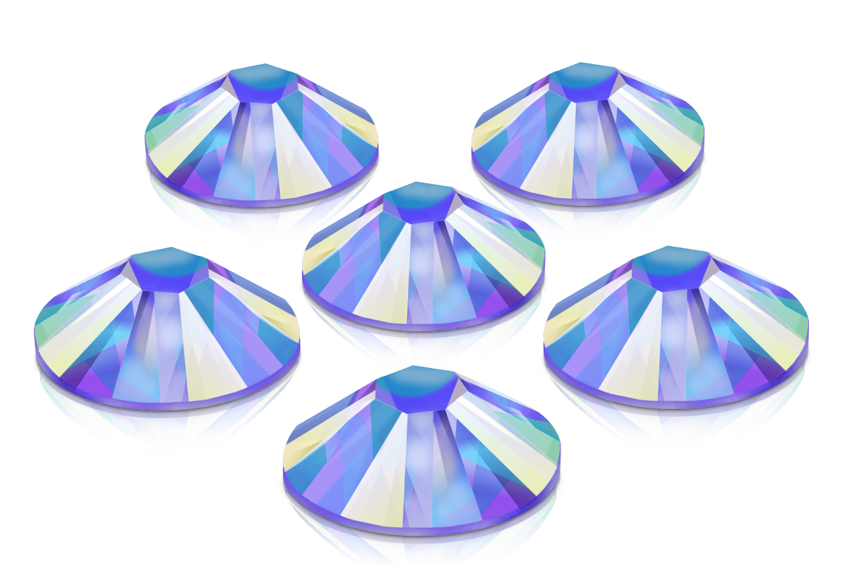 Swarovski Strasssteine - Sapphire irisierend - 3,1mm