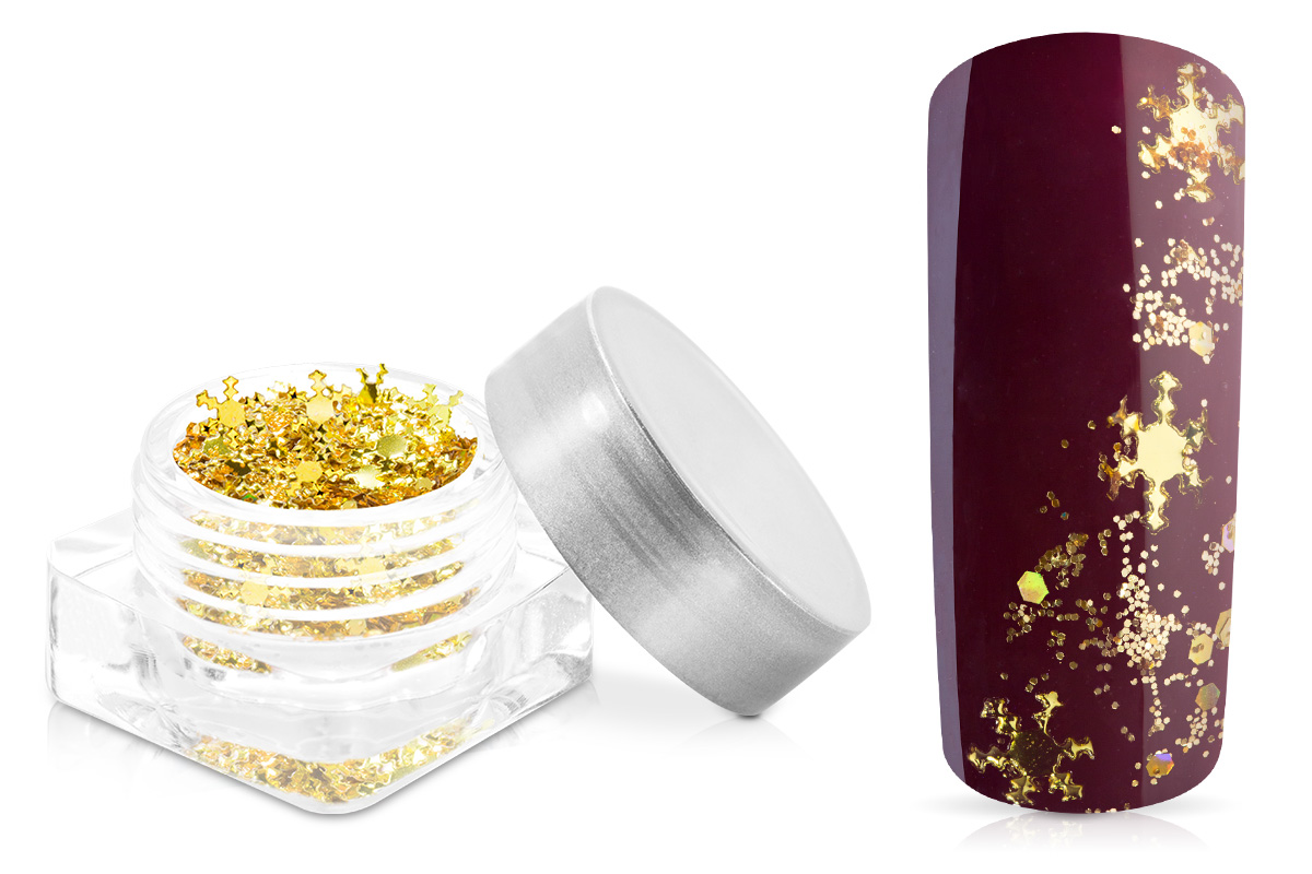 Jolifin Snowflake Glitter - gold