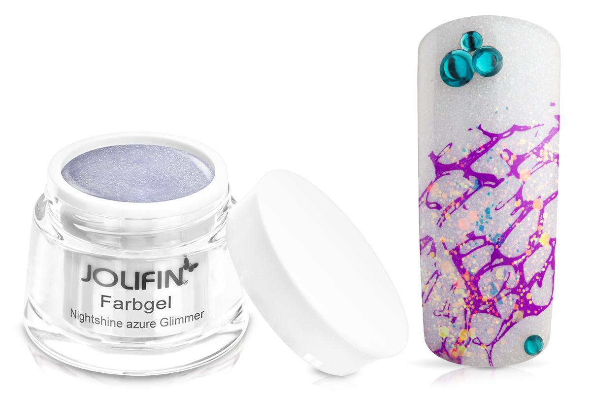 Jolifin Farbgel Nightshine azure Glimmer 5ml