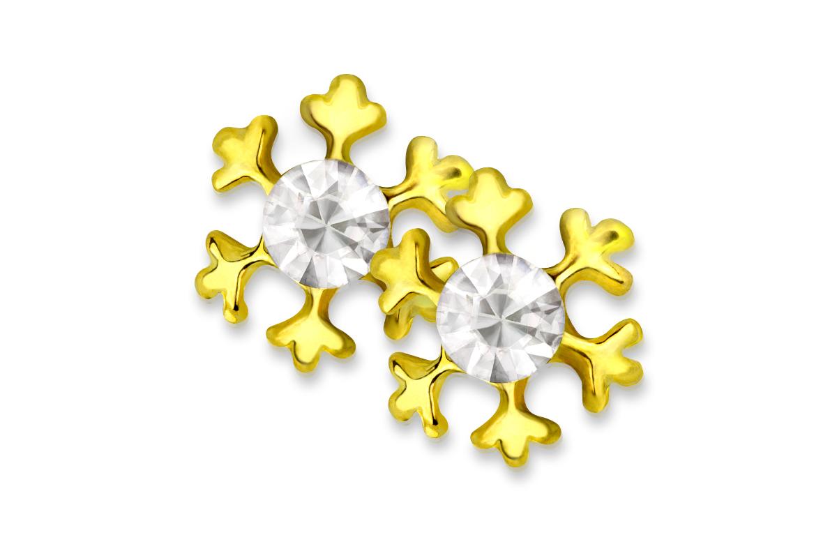 Jolifin Overlay Schneeflocke gold