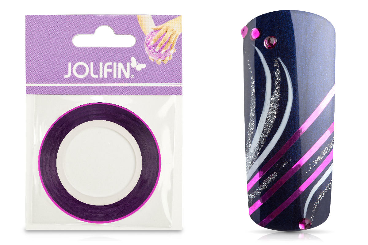 Jolifin Nailart Pinstripes chrome pink