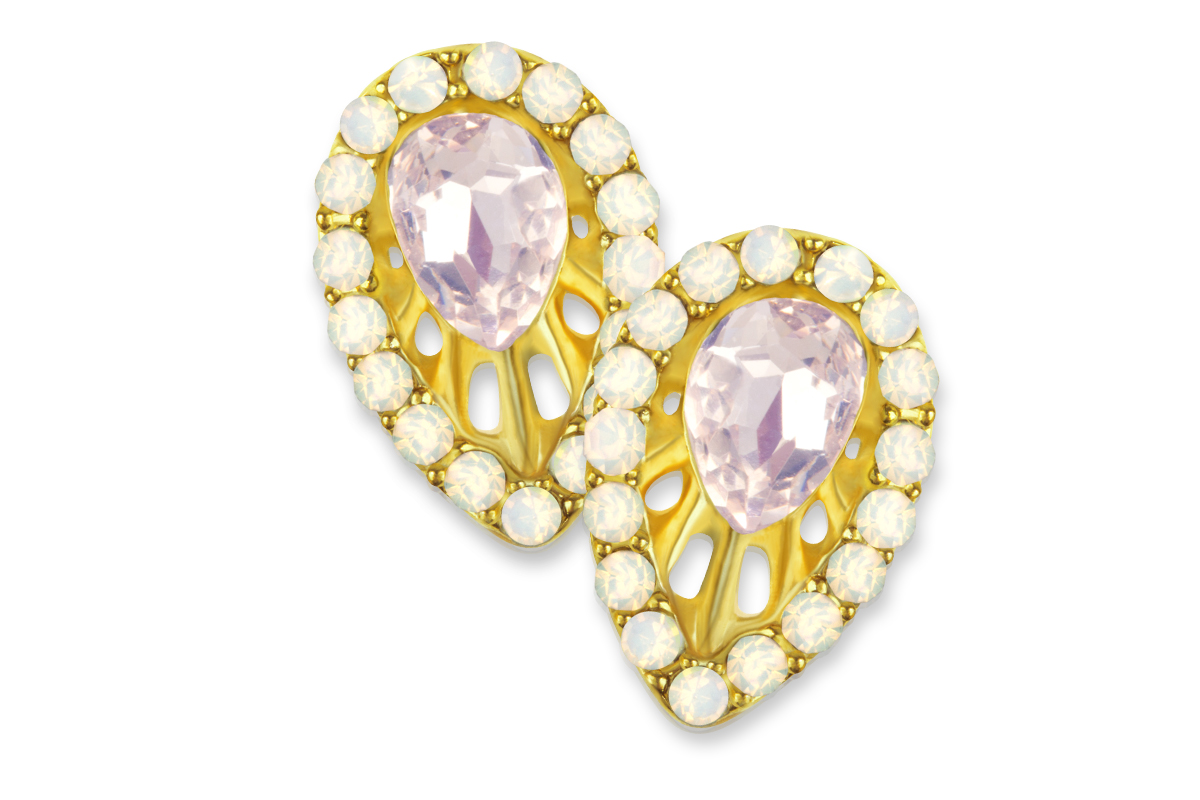 Jolifin Overlay Brosche Opal