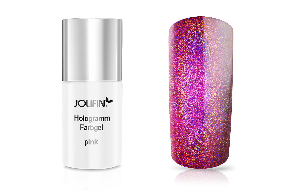Jolifin Carbon Hologramm Quick-Farbgel pink 11ml