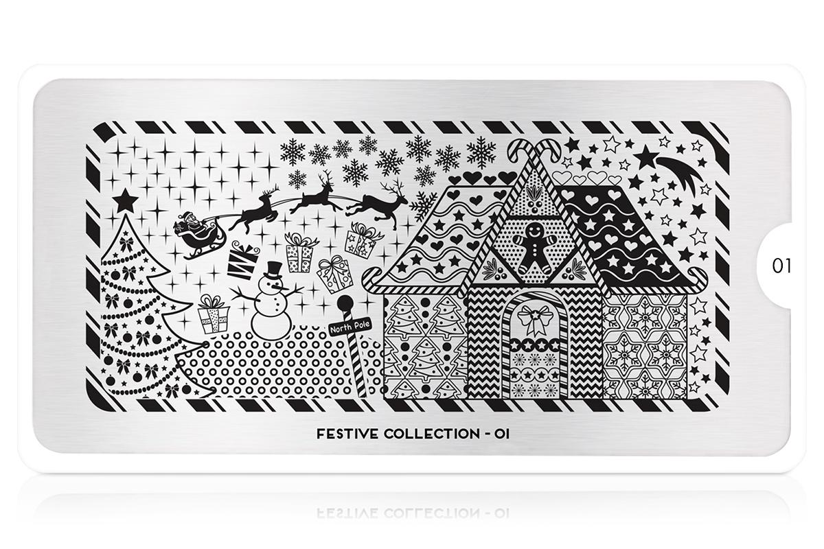 MoYou-London Schablone Festive Collection 01