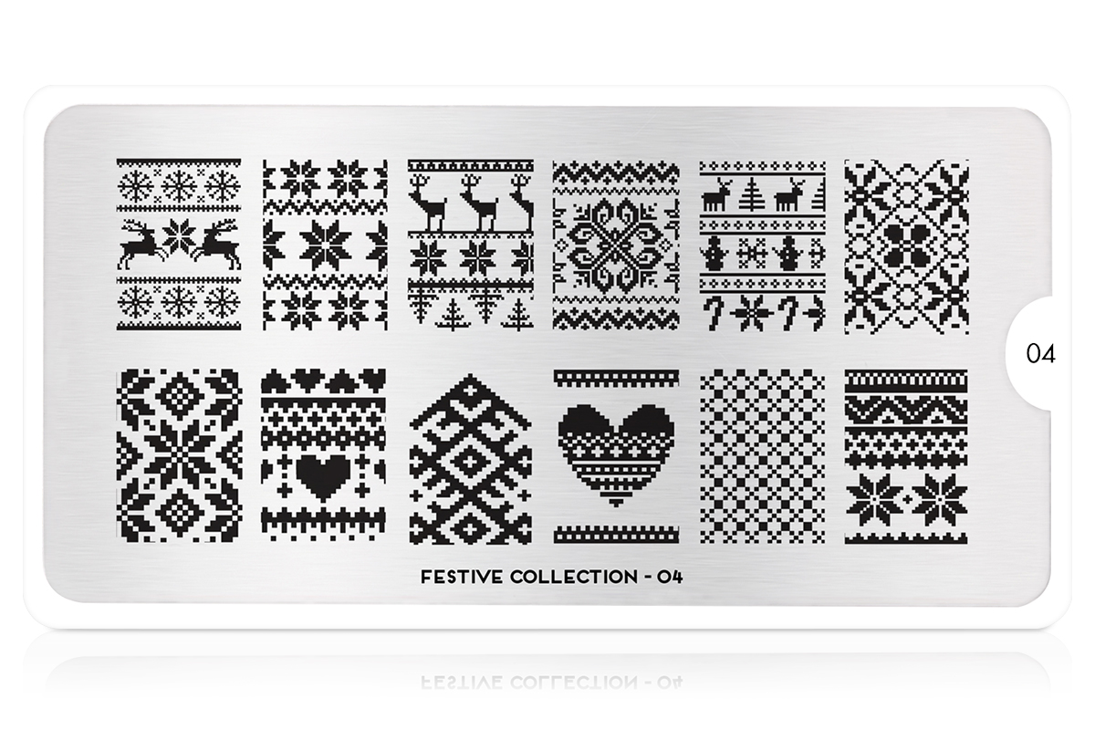 MoYou-London Schablone Festive Collection 04
