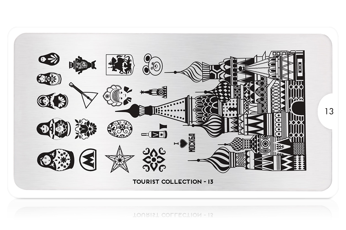 MoYou-London Schablone Tourist Collection 13
