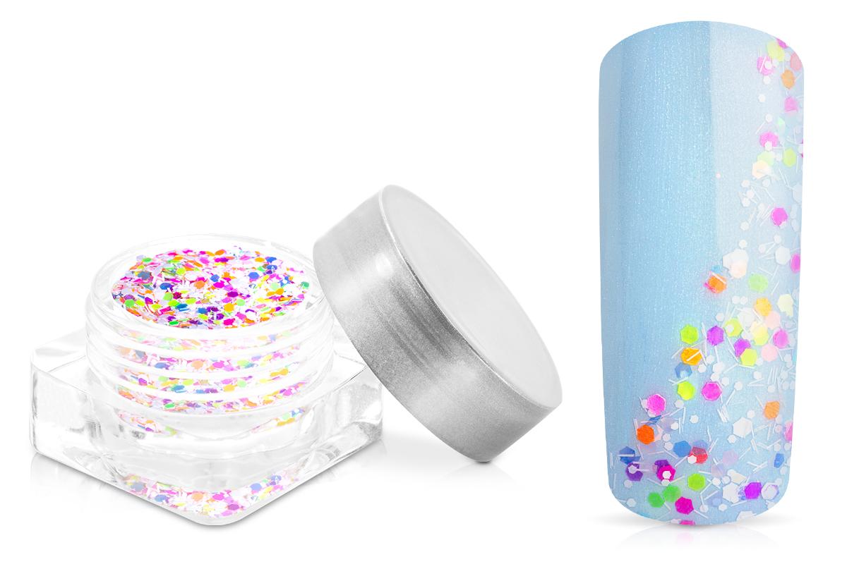 Jolifin Confetti Glitter - neon-mix