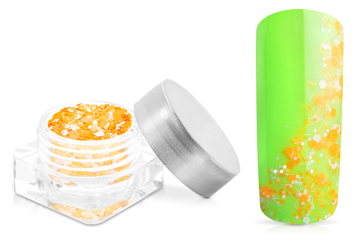 Jolifin Confetti Glitter - neon-orange