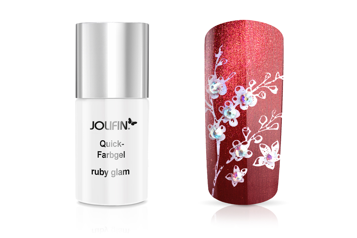 Jolifin Carbon Quick-Farbgel ruby glam 11ml