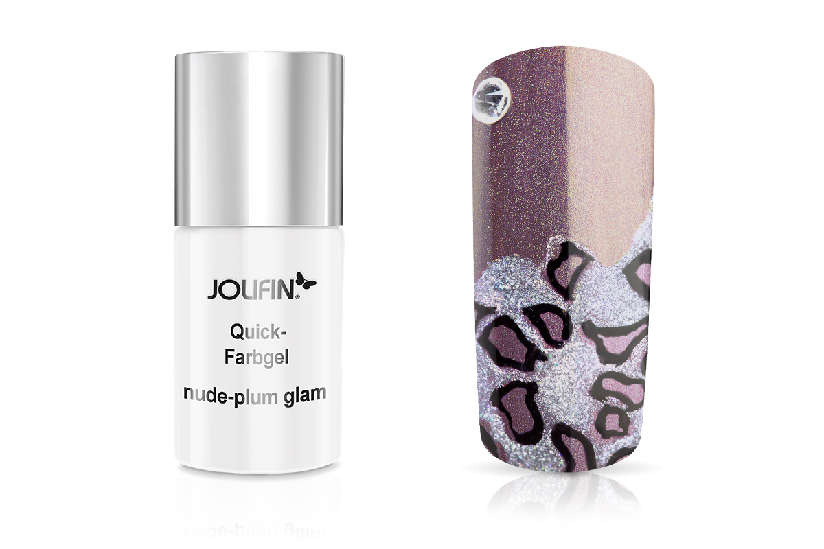 Jolifin Carbon Quick-Farbgel - nude-plum glam 11ml