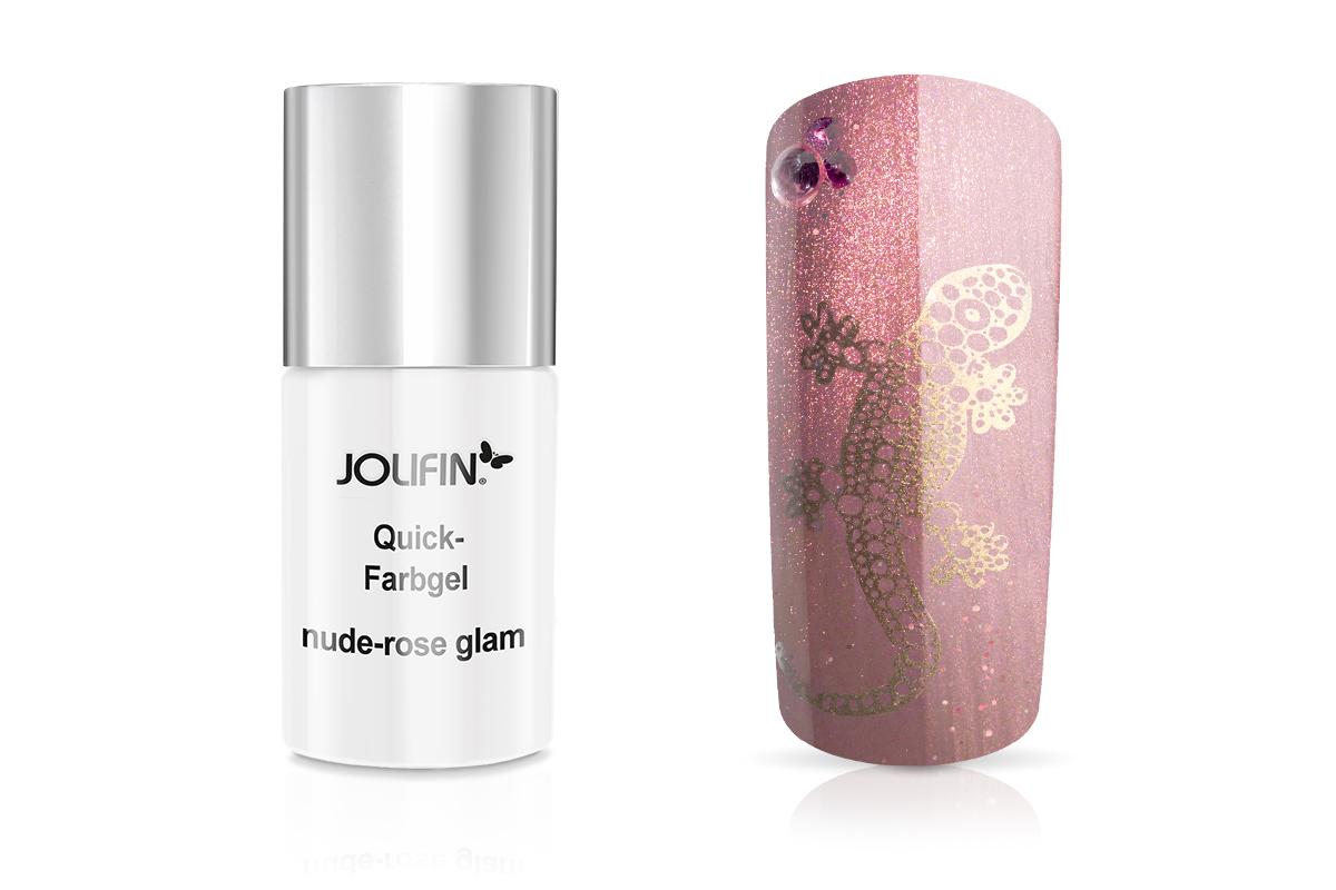 Jolifin Carbon Quick-Farbgel nude-rose glam 11ml