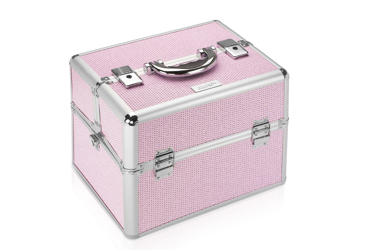 Jolifin Mobiler Kosmetik Koffer pink Glitter - B-Ware