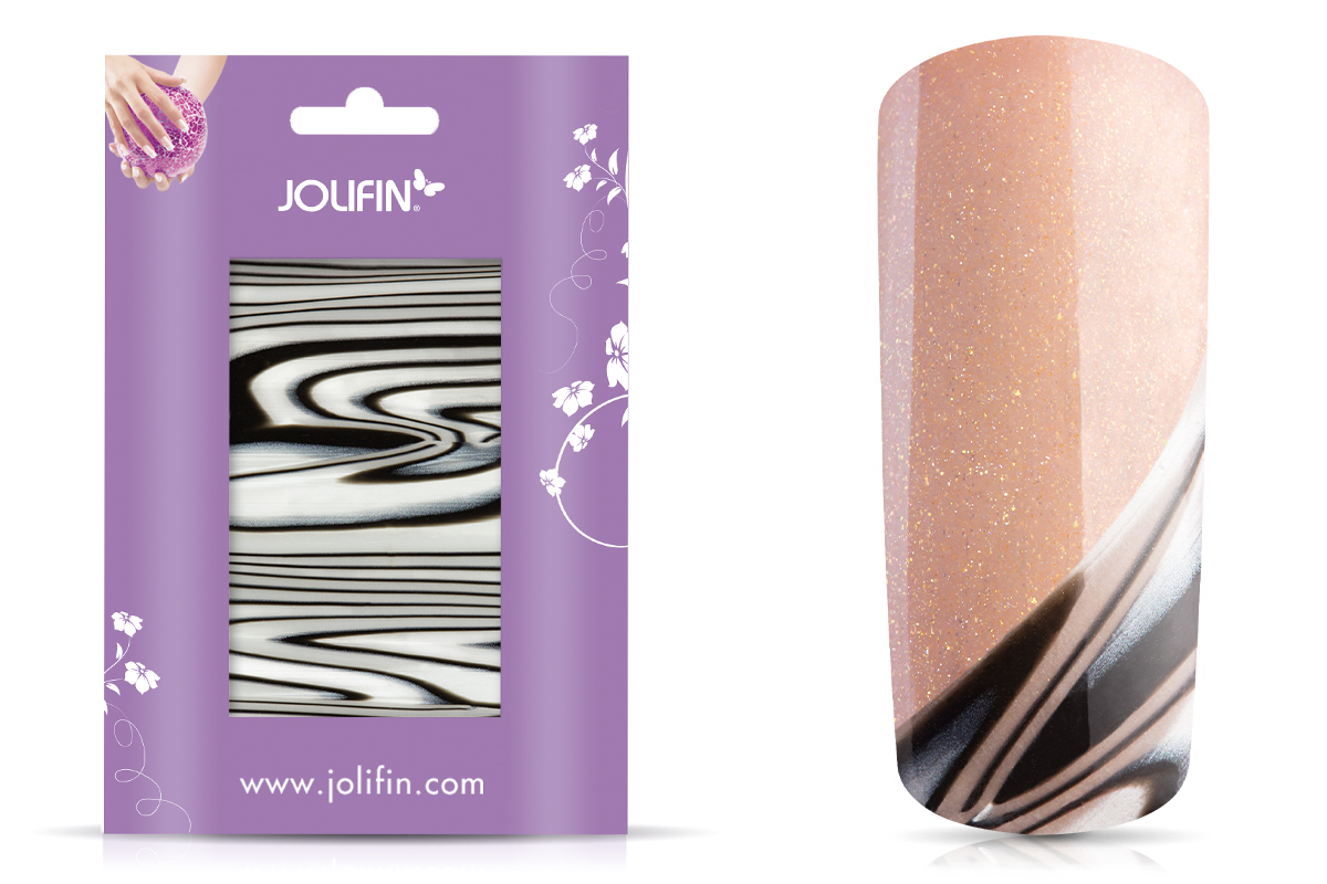 Jolifin Nailart flexi Seashell Wrap zebra