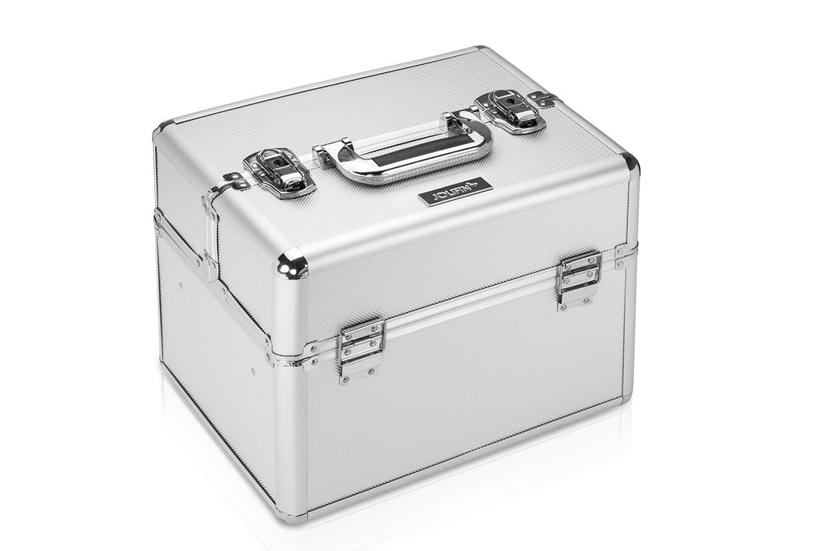 Jolifin Mobiler Kosmetik Koffer silber