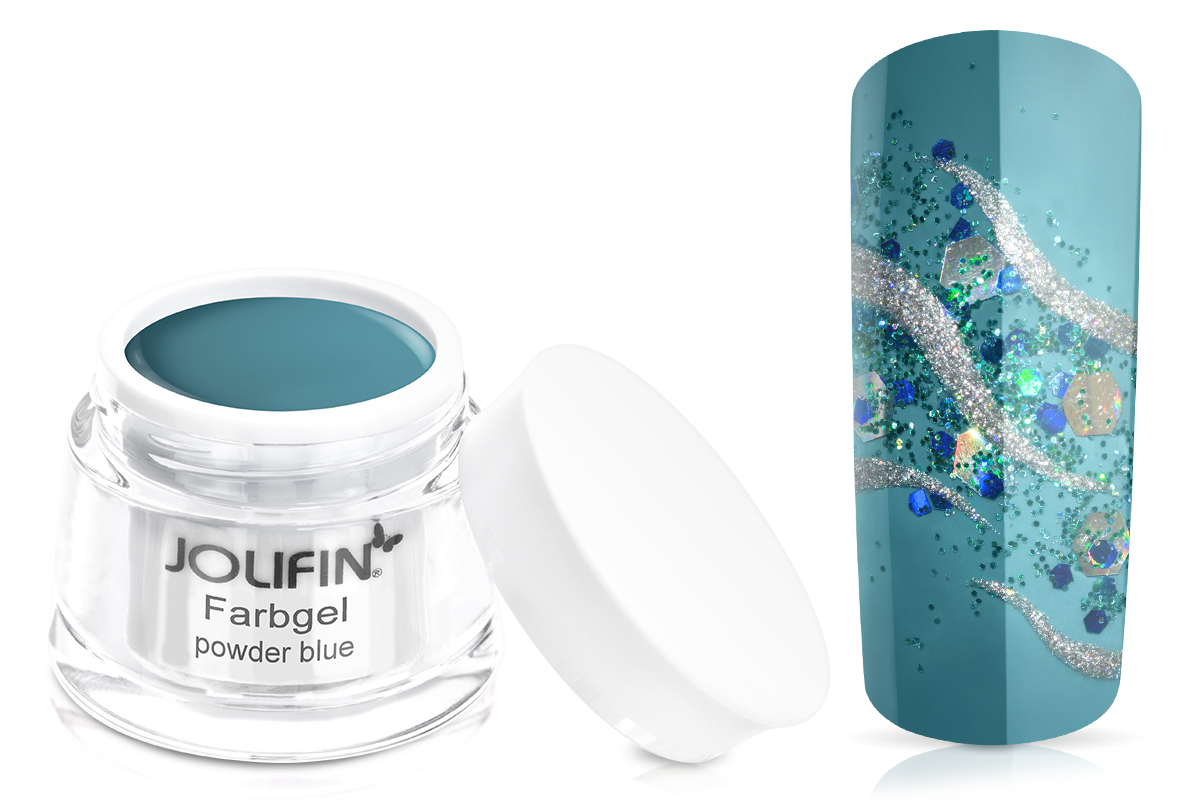 Jolifin Farbgel powder blue 5ml