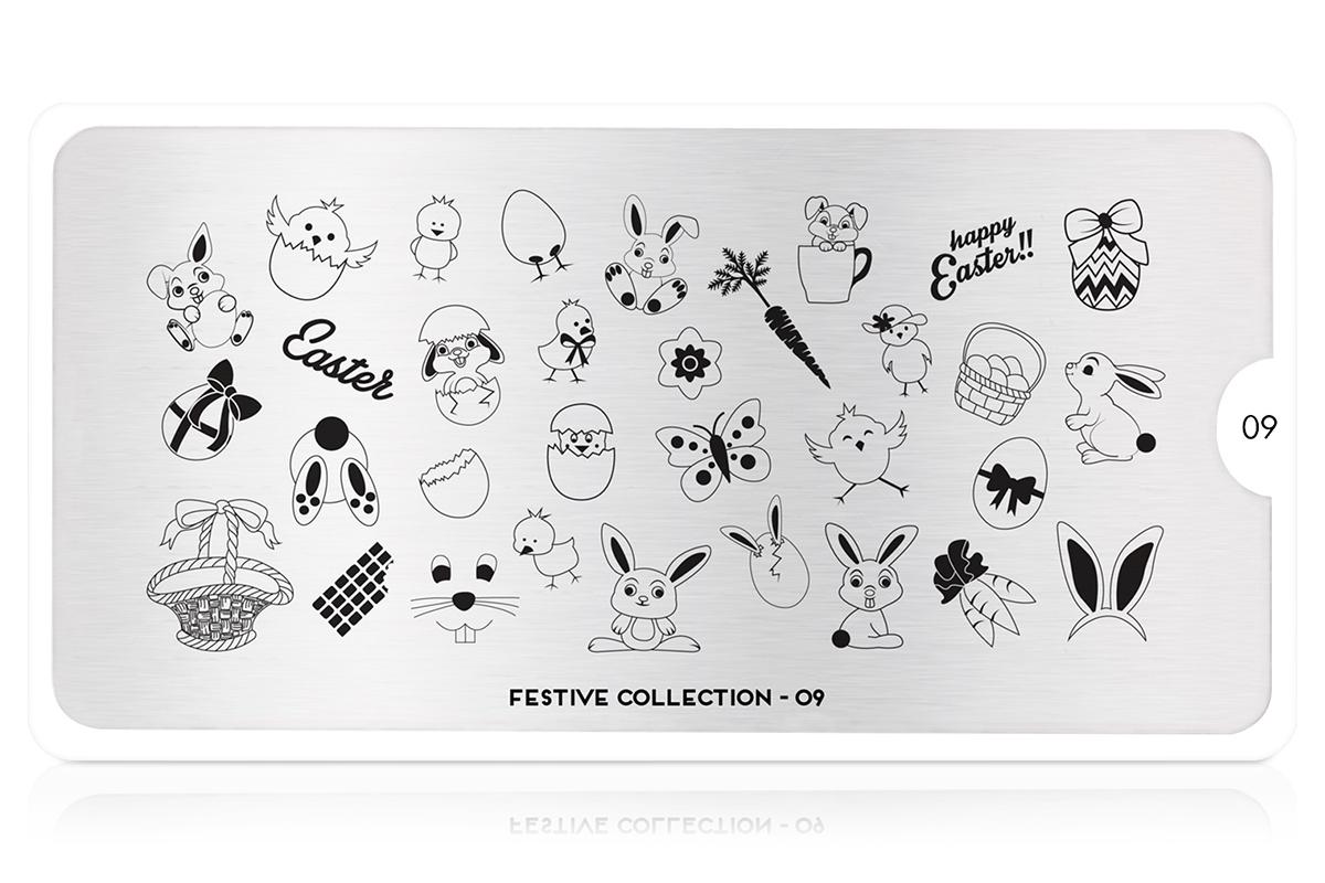 MoYou-London Schablone Festive Collection 09