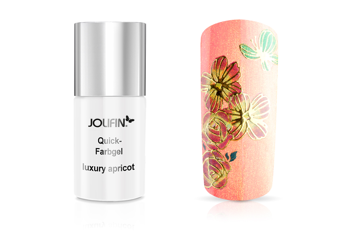 Jolifin Carbon Quick-Farbgel luxury apricot 11ml