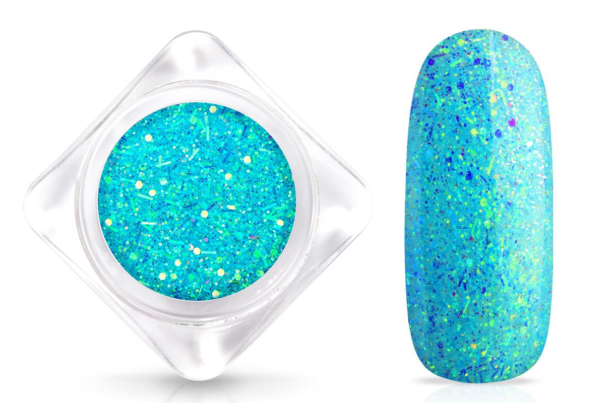 Jolifin Nightshine Glitterpuder - neon-blue