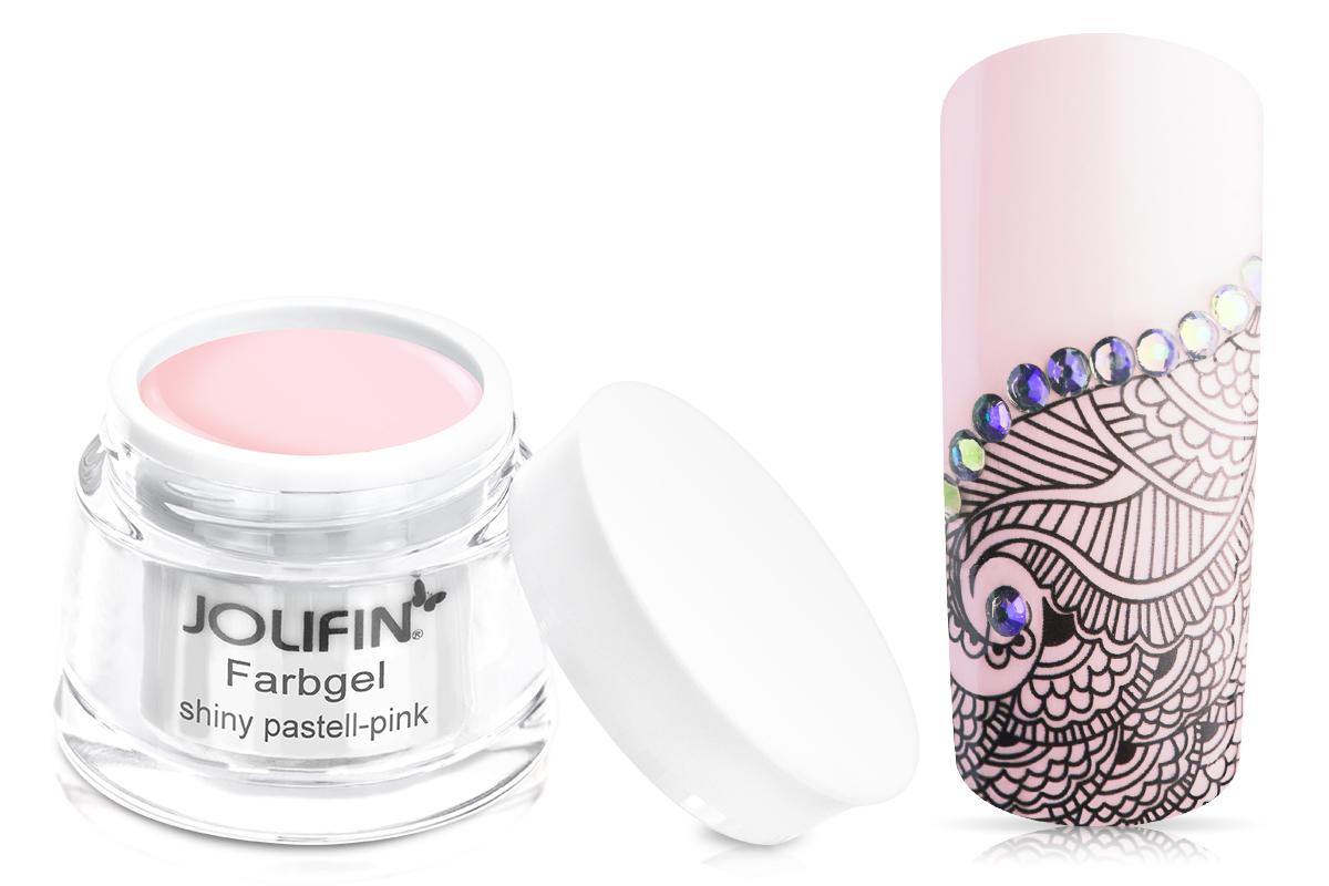 Jolifin Farbgel shiny pastell-pink 5ml