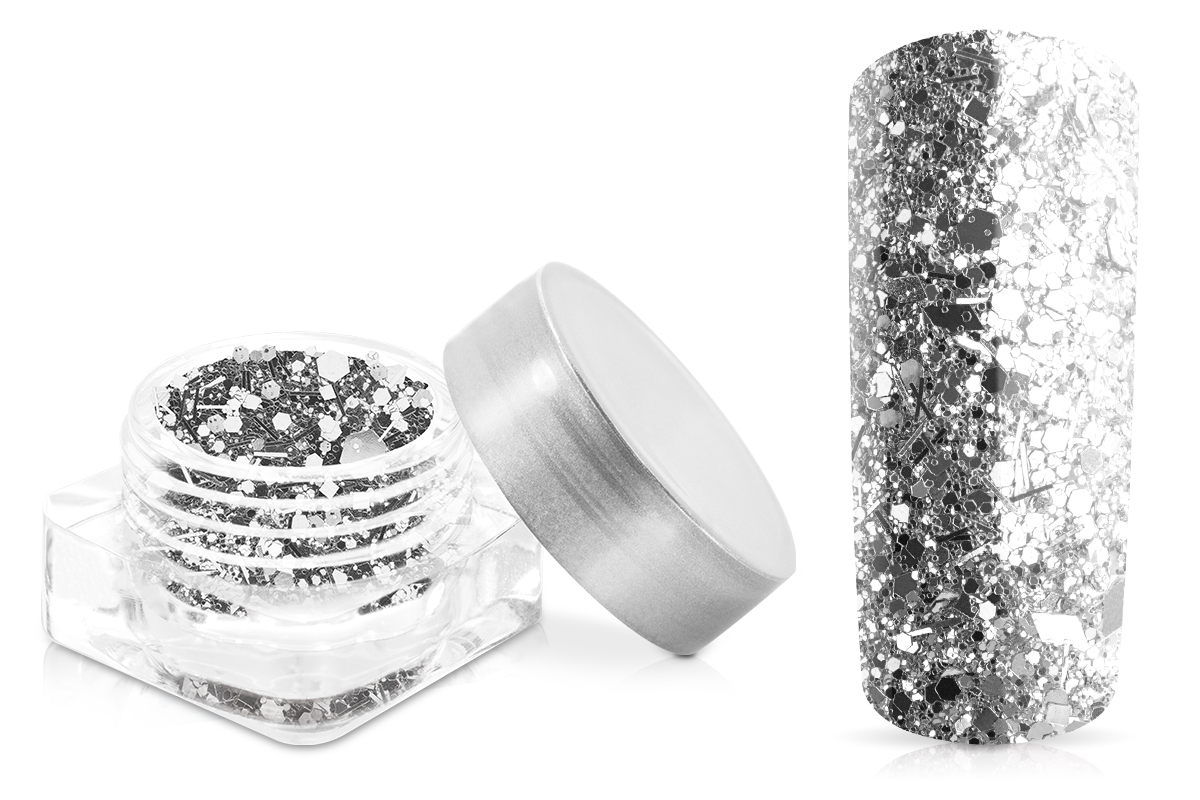 Jolifin Illusion Glitter VIII luxury silver