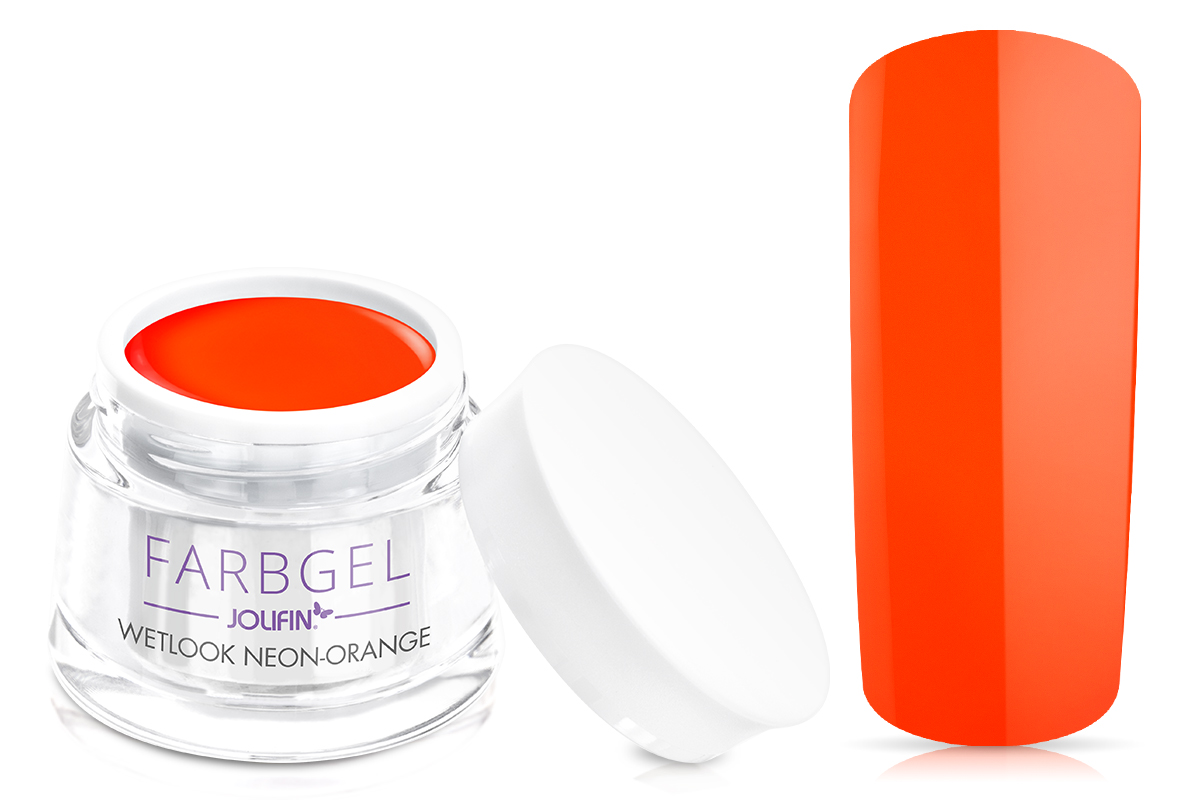 Jolifin Wetlook Farbgel neon-orange 5ml