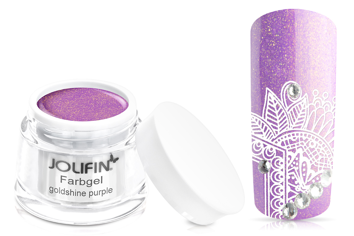 Jolifin Farbgel goldshine purple 5ml