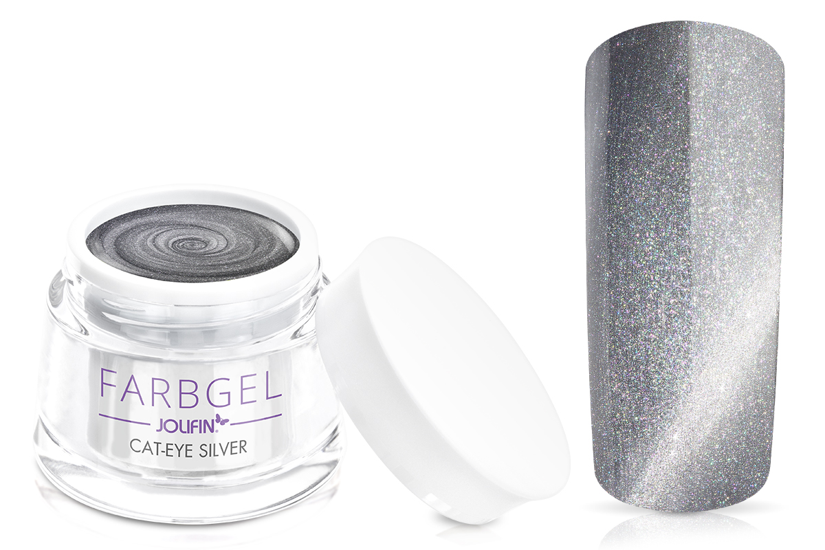 Jolifin Cat-Eye Farbgel silver 5ml