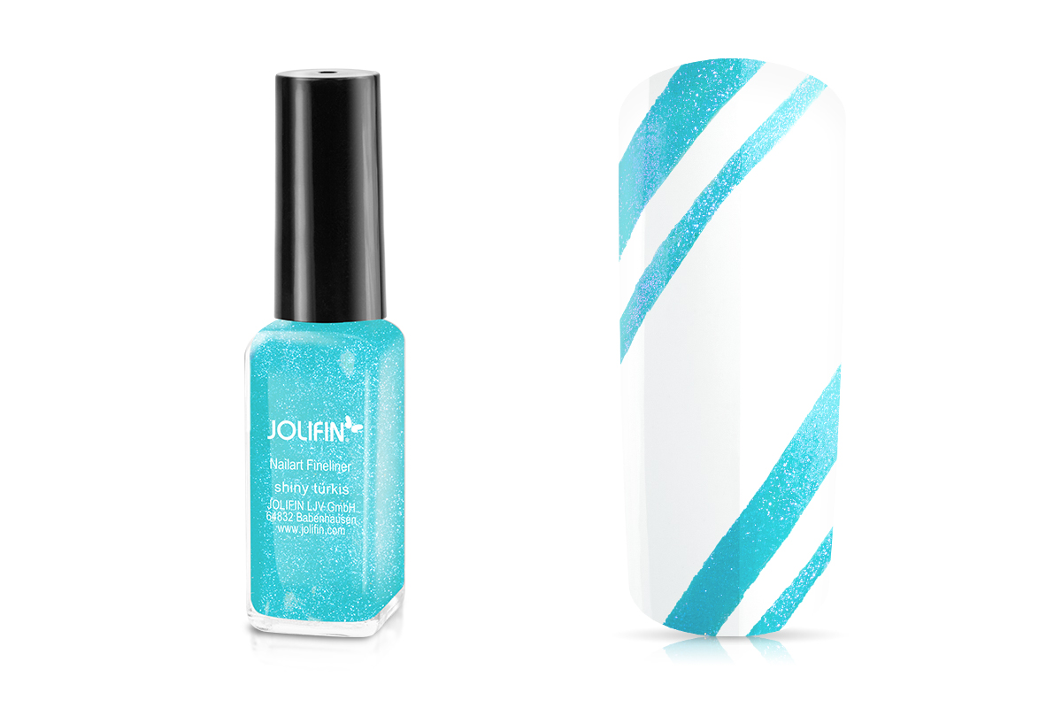 Jolifin Nailart Fineliner shiny türkis 10ml