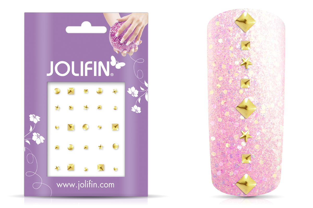 Jolifin Nieten-Sticker Mix Gold