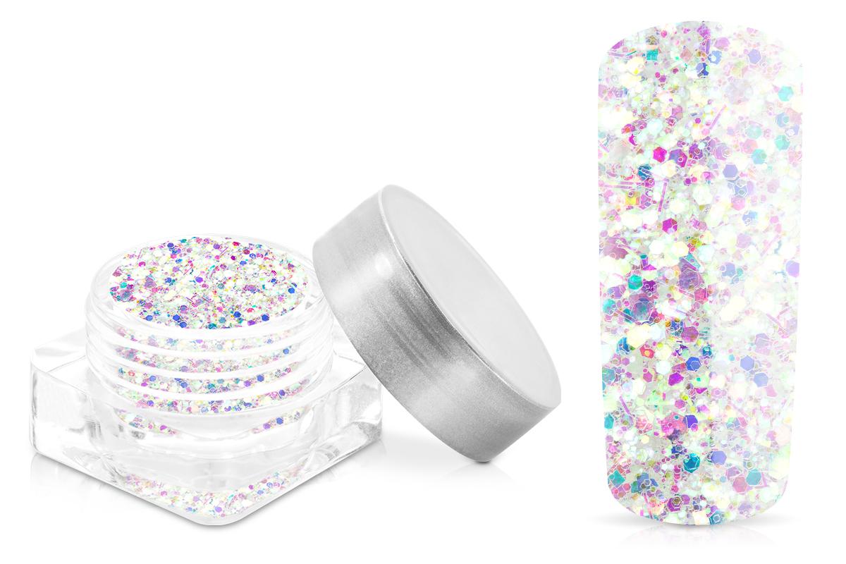 Jolifin Illusion Glitter IX - white rainbow