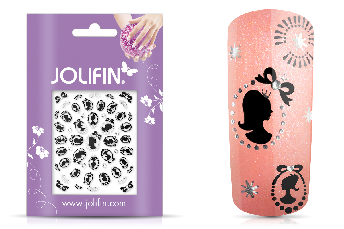 Jolifin Silver-Black Nailart Sticker 6