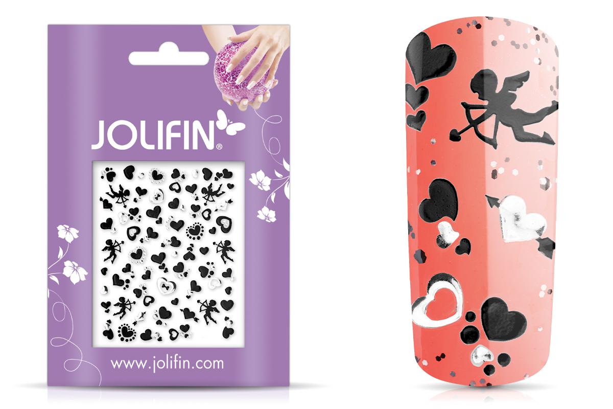 Jolifin Silver-Black Nailart Sticker 7