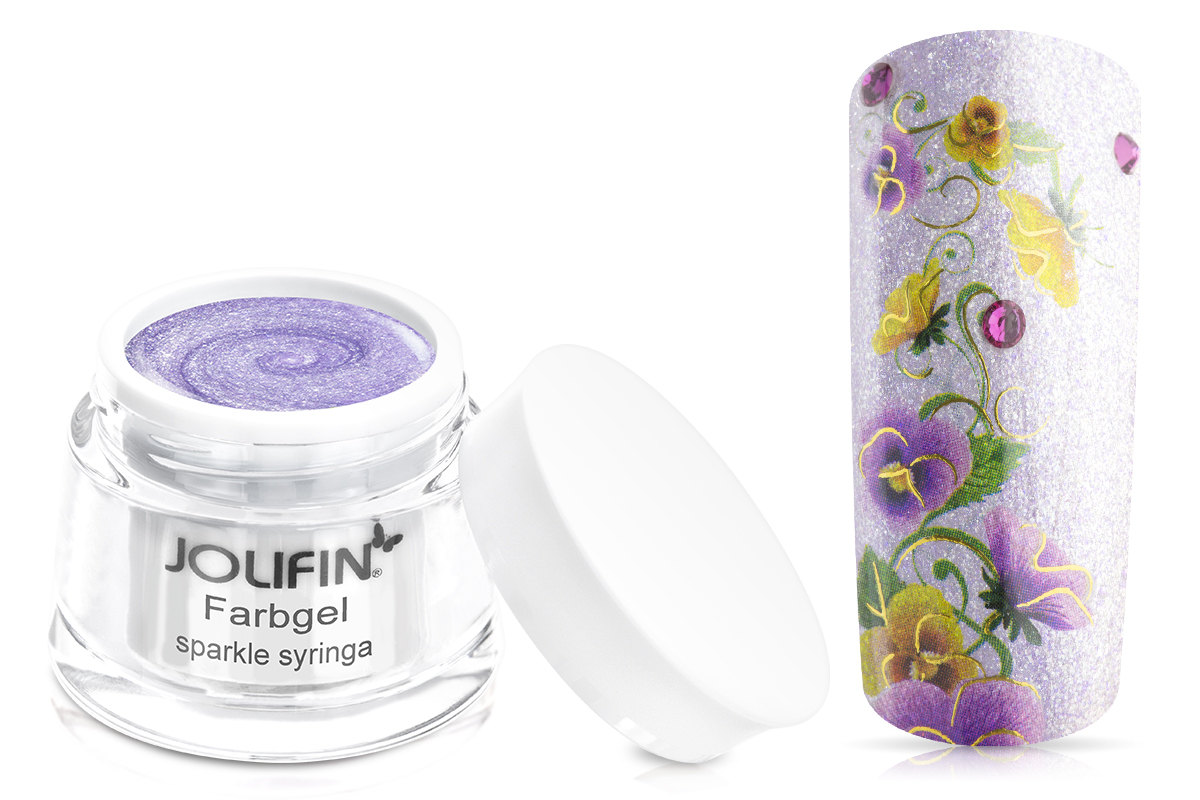 Jolifin Farbgel sparkle syringa 5ml
