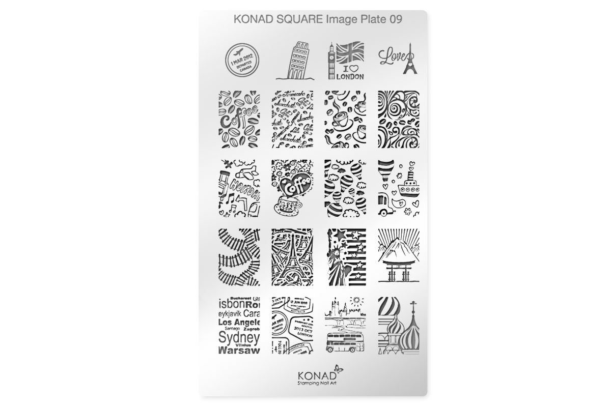 KONAD Schablone XL 09