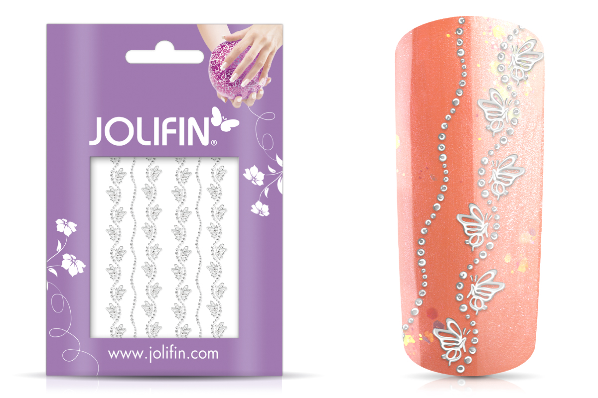 Jolifin Lace Sticker - Silber 2